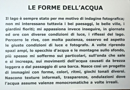 """Mostra """"Le forme dell'acqua"""" Quadreria di Malgrate"""