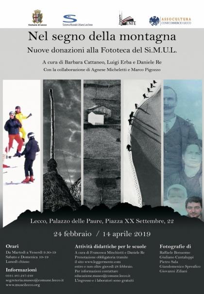 """Mostra """"Nel segno della montagna"""" Palazzo delle Paure Lecco"""